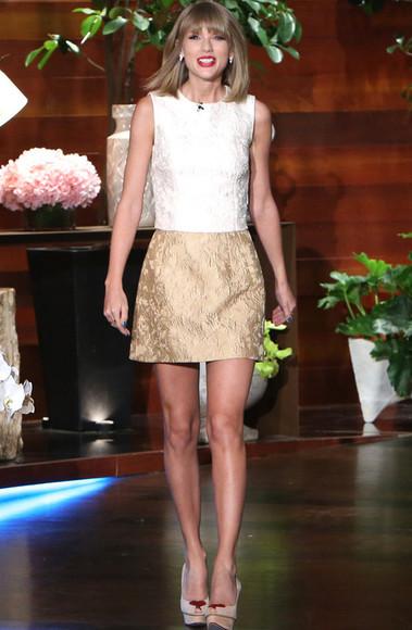 top skirt taylor swift sandals