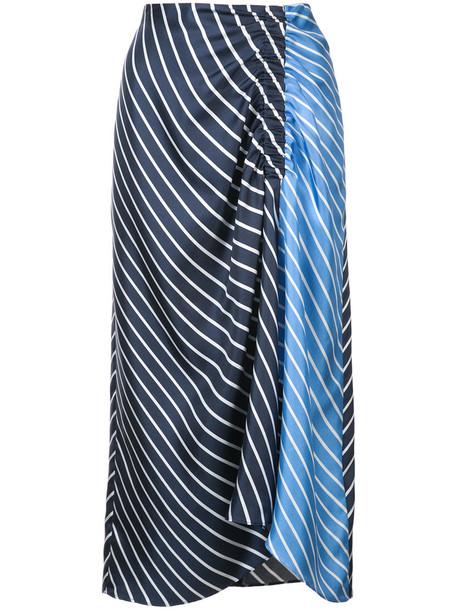Tibi skirt women blue silk