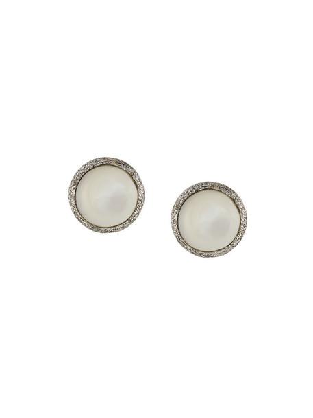 Carolina Bucci women classic pearl earrings gold white jewels