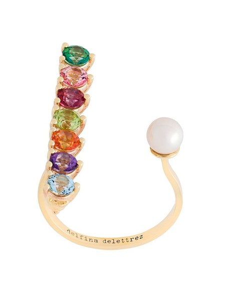 women pearl ring gold white jewels