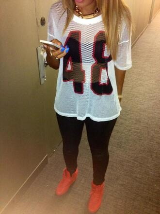 blouse shoes soccer football ice hockey swag cute tumblr jersey mesh