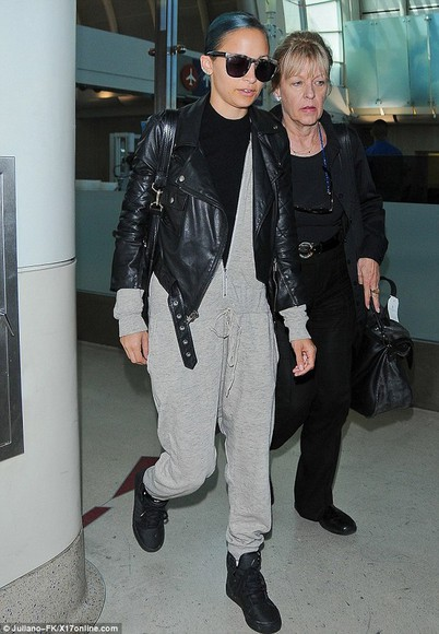 sunglasses nicole richie jacket jumpsuit sweatpants gray bows black bows bow sweater demi