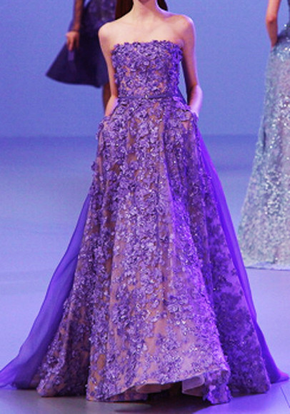 prom prom dress purple dress light purple prom gown