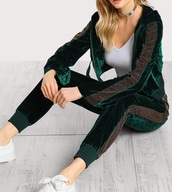 jumpsuit,girly,green,velvet,two-piece,tracksuit,joggers,hoodie,sweater,crop,cropped,cropped sweater,sweatpants,matching set