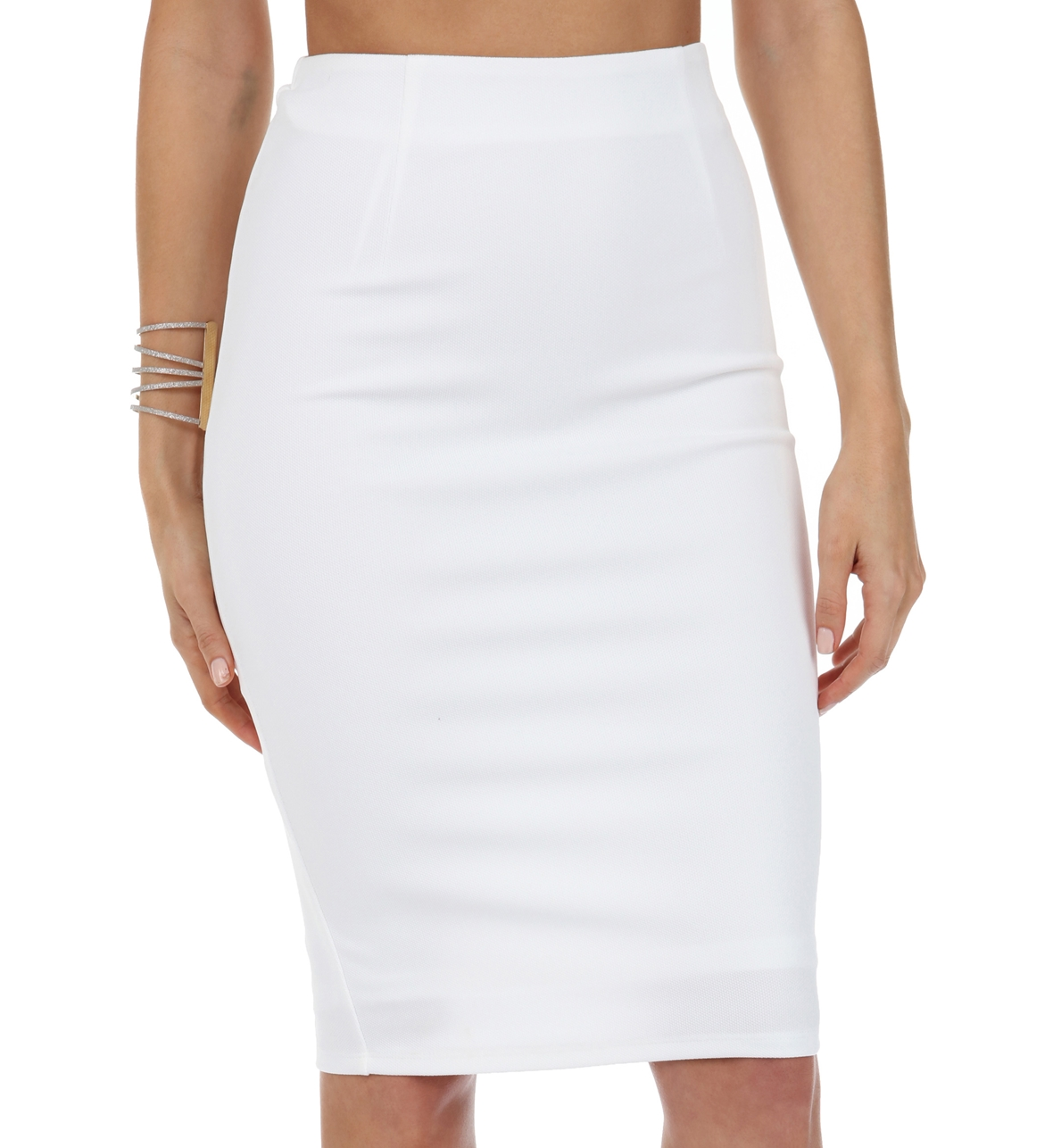 White Love Me Right Skirt