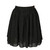 Chiffon Short Skirt - Black - Lookbook Store