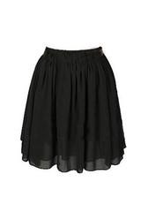 Chiffon Short Skirt - Black - Lookbook Store