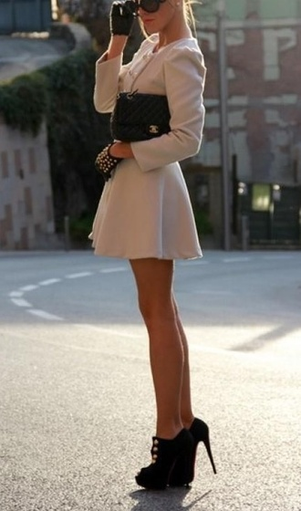 dress pretty high black coat