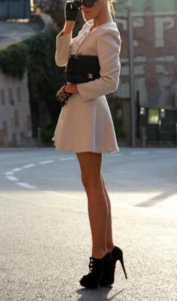 dress pretty high black coat
