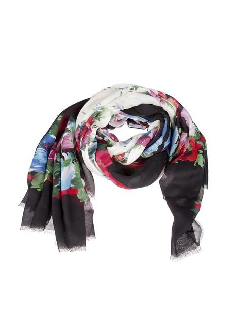 Dolce & Gabbana scarf floral print white multicolor