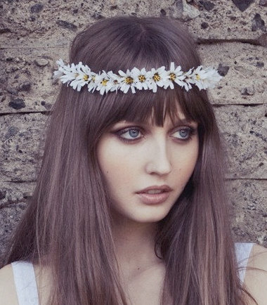 Flower crownflower headbanddaisy headband coachella door Eterie