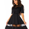 Woman's stunning casual tulle shift dress