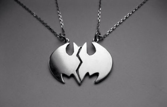 batman cute jewels necklace couples