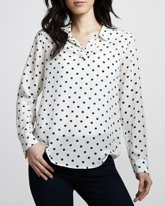 Equipment Adele Polka-Dot Silk Blouse - Neiman Marcus