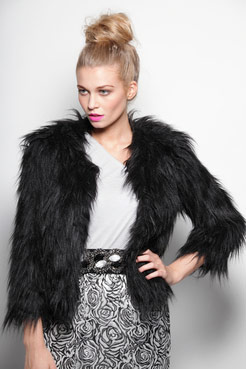 0f9e3d6a217 Julie Shaggy Faux Fur Coat at boohoo.com