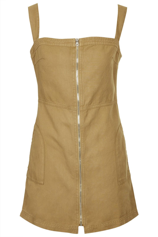 Zip through pinny dress