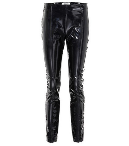 Valentino Vinyl slim-fit pants in black