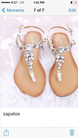 shoes beach wedding flat sandals diamonds