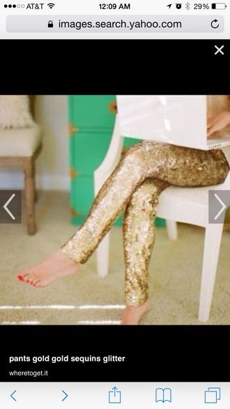 pants gold sequin pants