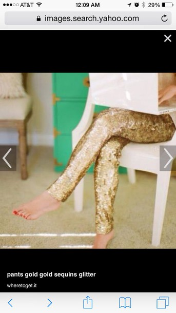 pants gold sequin pants