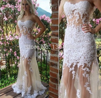 Aliexpress.com : buy 2015 sexy see through dress floor length lace sleeveless evening dresses party gown custom made dyp31 from reliable gown with lace sleeves suppliers on roman holiday wedding dresses