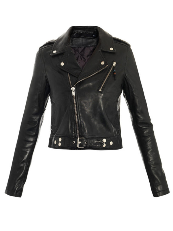 jacket leather black leather jacket