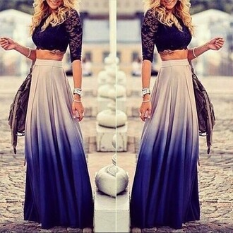 skirt ombre skirt long skirt