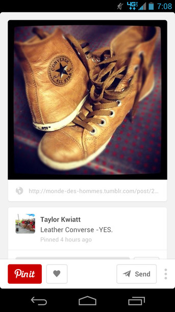 shoes converse leather