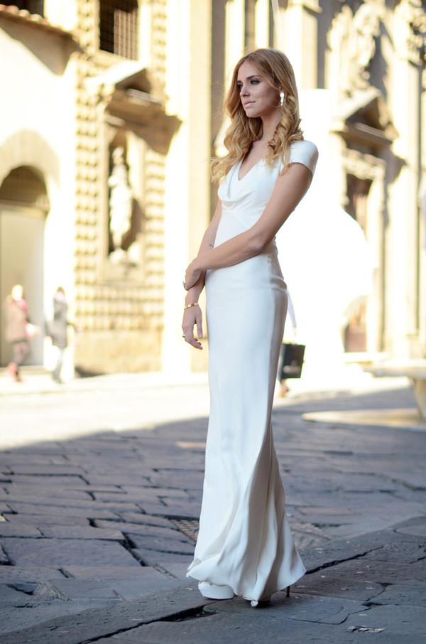 chiara ferragni white dress dress