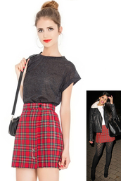 skirt,tartan,mini skirt,office outfits,jasmin walia,kilt,pleated skirt,towie
