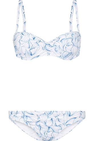 bikini light blue light blue swimwear