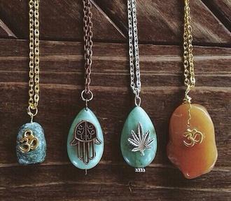necklace marijuana boho jewelry bohemian