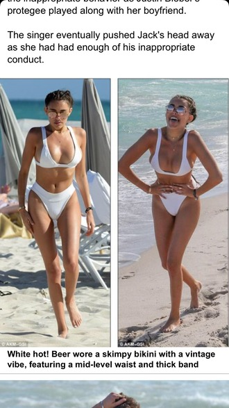 swimwear swimwear bikini bikini white brazillian tan women batging suit swimming white swimwear