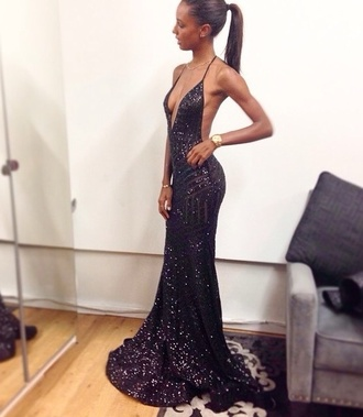 sparkle dress navy dress prom dress long black dress long dress dark blue low back dress