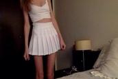 skirt,white,tennis skirt,tennis