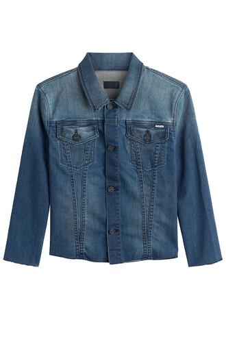 jacket cropped blue