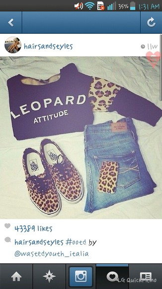 leopard print sweater vans phone case