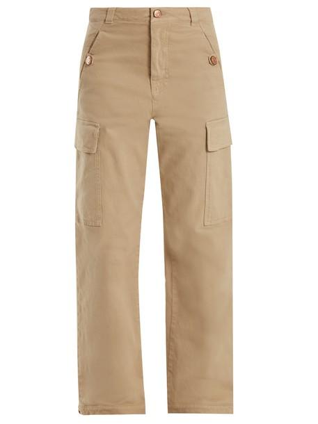 cotton beige pants