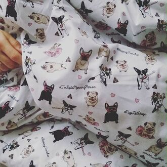 home accessory yeah bunny cover cotton pillow dog print frenchie cute bedding pattern