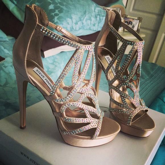 sparkles high heels open toes sandals