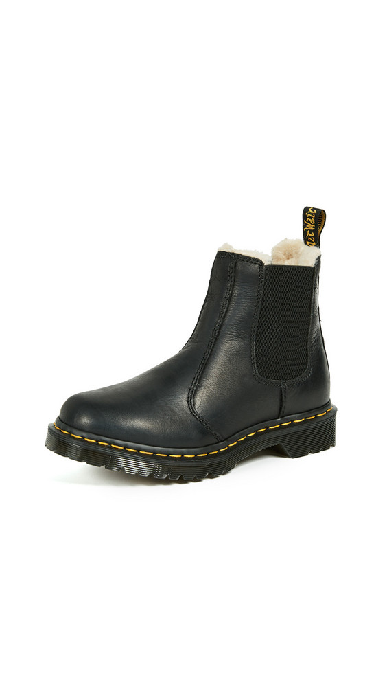 Dr. Martens Leonore Sherpa Chelsea Boots in black