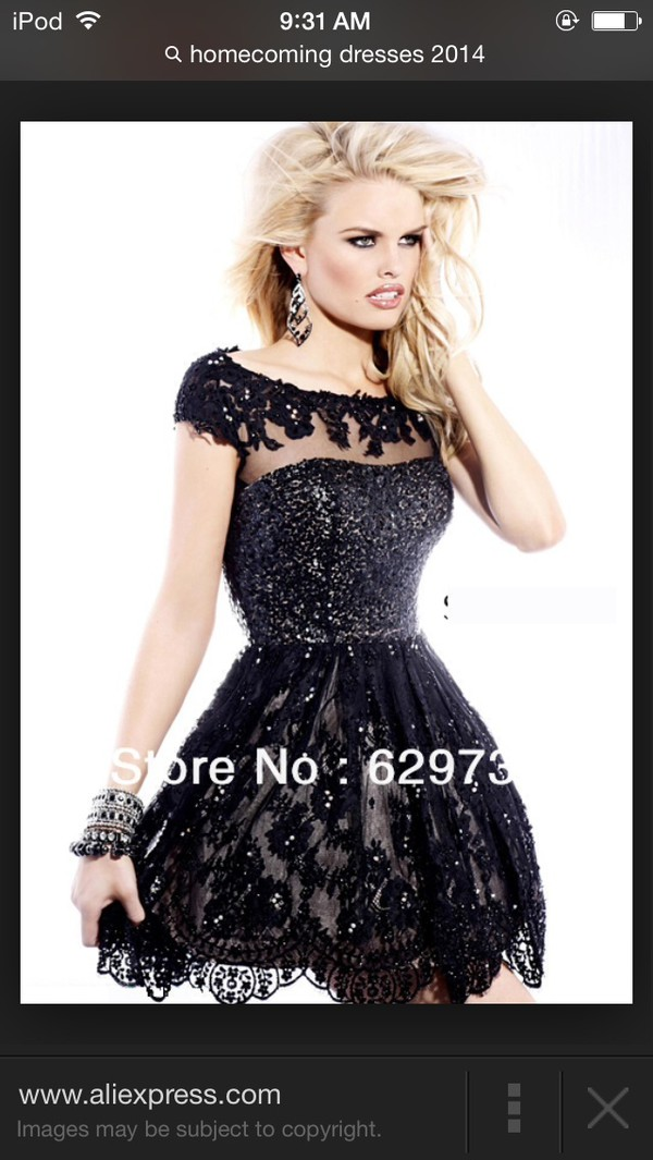 black dress homecoming dress