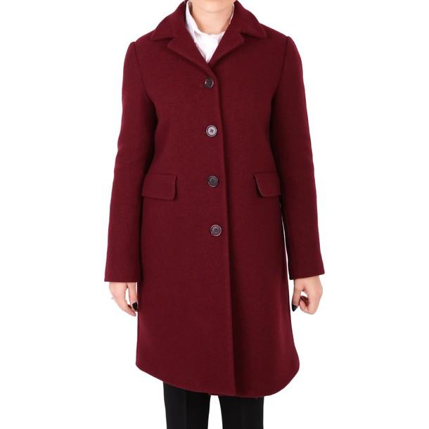 ASPESI coat wool coat wool burgundy