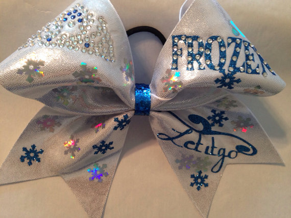 Frozen cheer bow by cjbows on etsy
