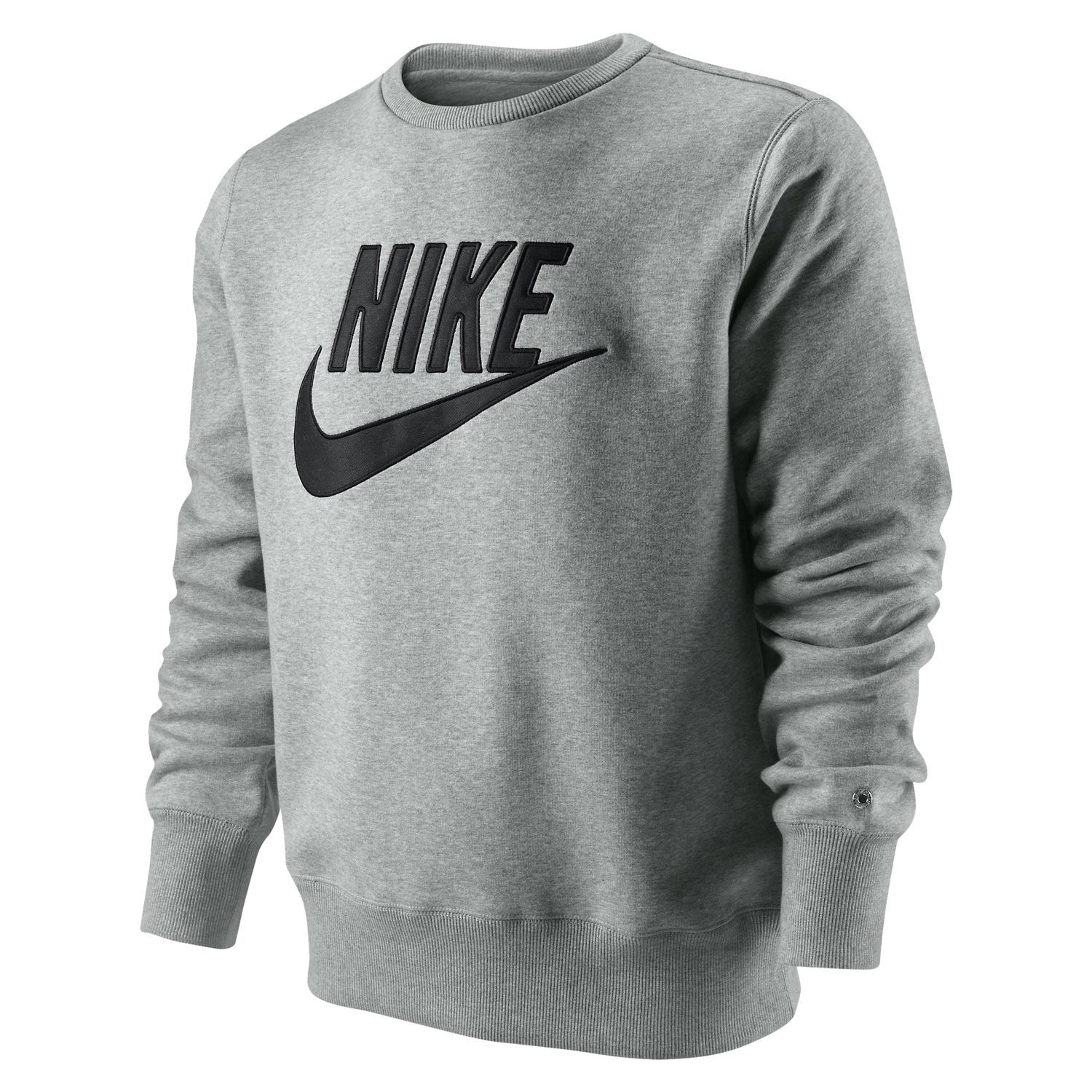 sweat sportswear nike brushed crew 2 gris sur casal. Black Bedroom Furniture Sets. Home Design Ideas