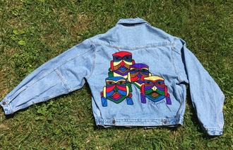 jacket denim jacket vintage embroidered denim trendy fashion vibe coachella summer festival