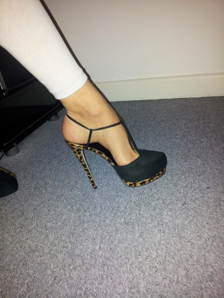 bbe100536fb shoes black stilettos stilettos t-strap heels high heels leopard heels  leopard print cheetah print