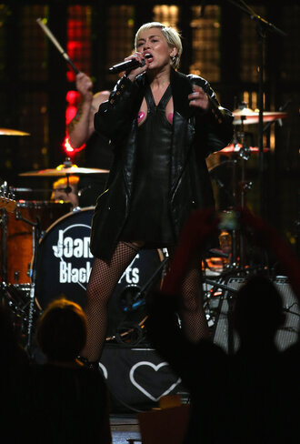 dress jacket leather miley cyrus
