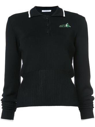 shirt polo shirt women cotton black top