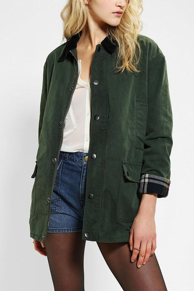 winter green coat green coat barbour khaki checked winter coat